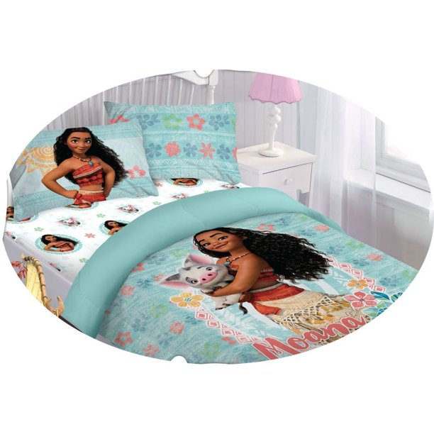 Moana Disney Bed In A Bag Comforter Set, Moana Queen Size Bed Sheets