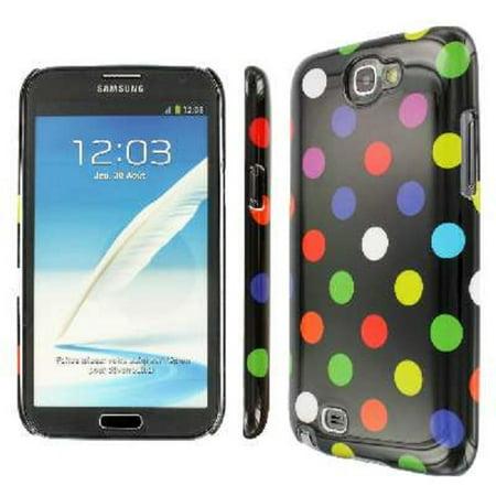 Samsung Galaxy Note 2 Case, EMPIRE Slim Fit Black Rainbow Polka Dot Case for Samsung Galaxy Note 2 - Rainbow Polka Dots