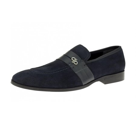 DTI BB Signature Rino Lux Mens Suede Leather Handmade Slip-On Dress Loafer Shoes