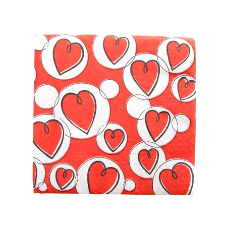 Valentine Hearts  Bubbles Beverage Napkins (Heart Bubbles)