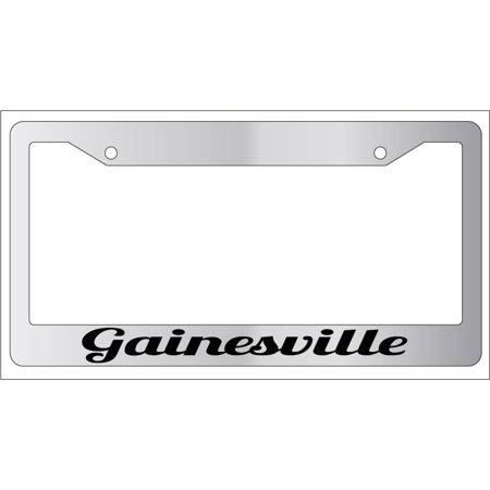 Gainesville Chrome Plastic License Plate Frame City - City Halloween Gainesville