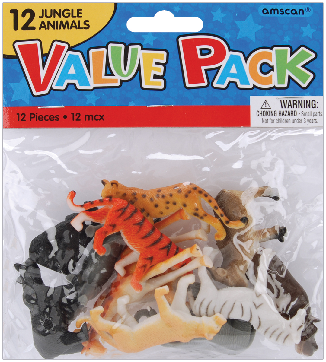 Party Favors, 12-Pack, Jungle Animals
