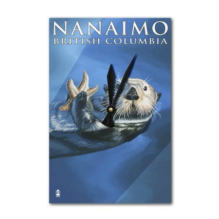 Nanaimo, BC, Otter - Lantern Press Poster (Acrylic Wall Clock) - Walmart.com