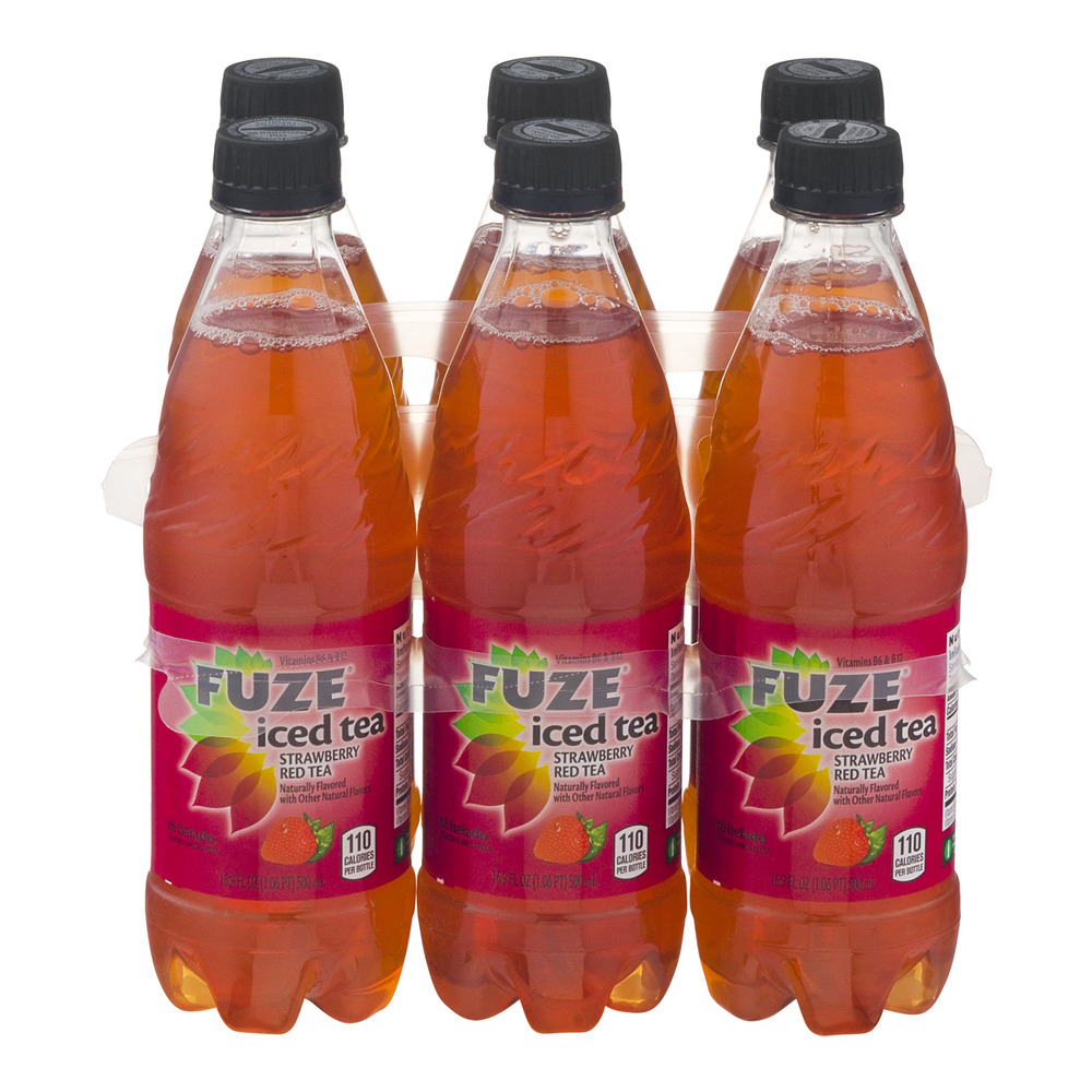 Fuze Iced Tea Strawberry Red Tea - 6 CT