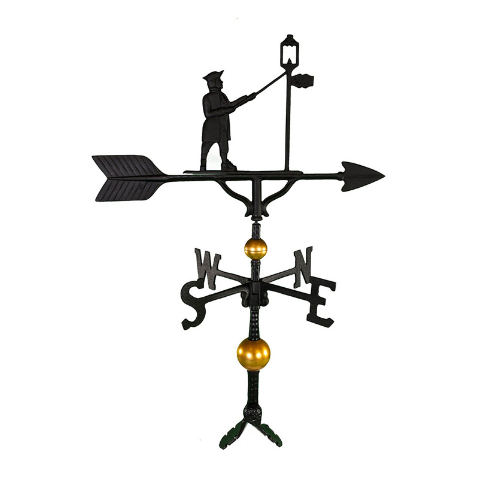 Deluxe Black Lamplighter Weathervane 32 in. by Montague Metal Products