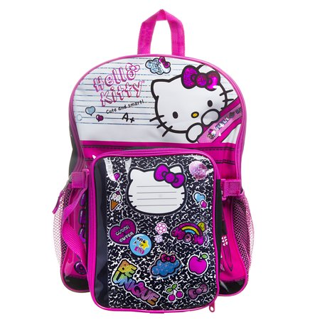 Hello Kitty Composition Backpack Set With Lunch Box School Girls ...
