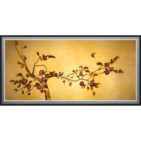 Birds on Plum Tree Canvas Wall Art - Walmart.com