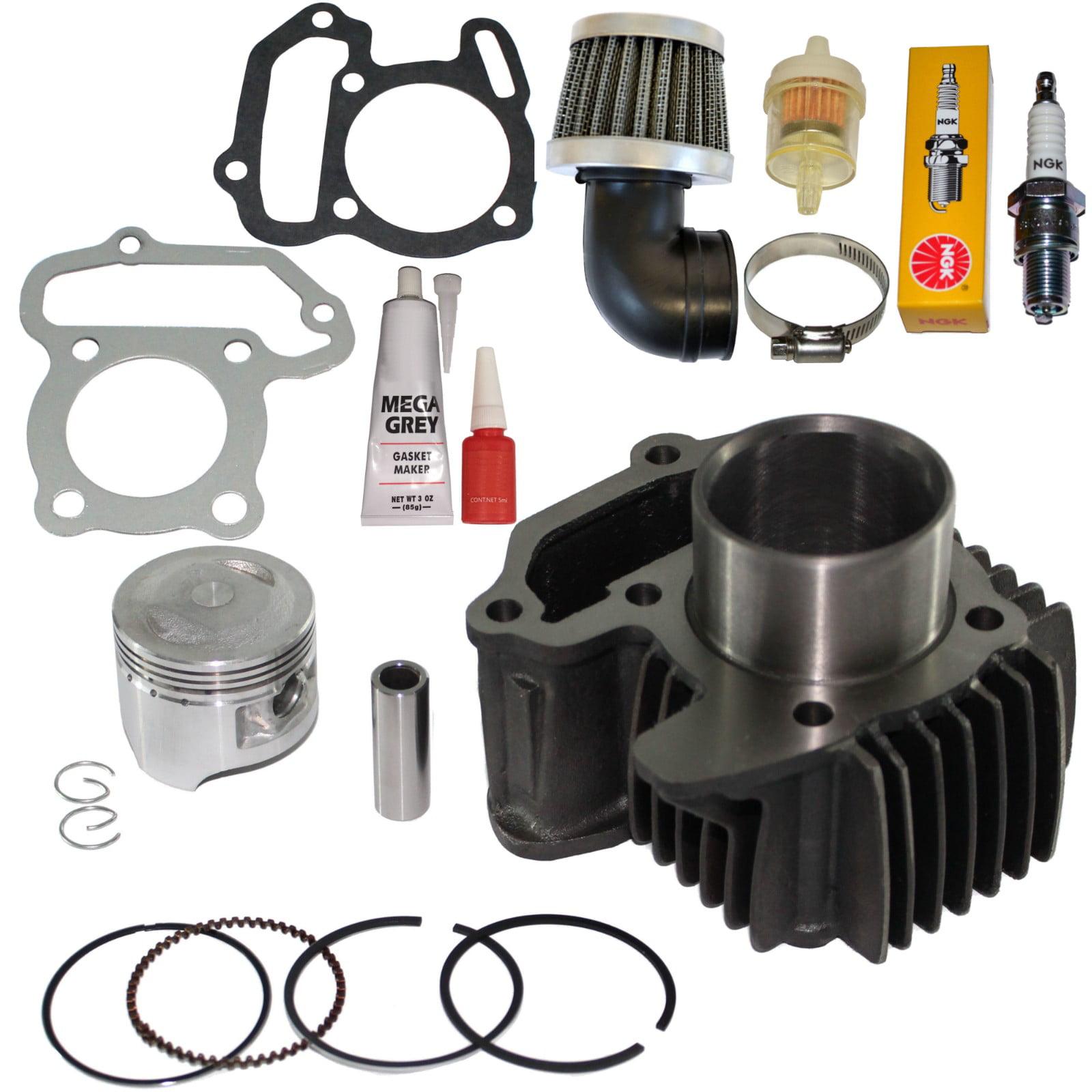 Top Notch Parts Yamaha Badger 80 Yfm 80 Cylinder Piston Rings Gaskets Pin Clips Kit 1985 - 2001