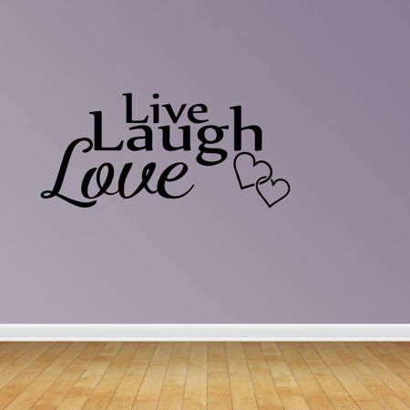 Wall Decal Quote Live Laugh Love Vinyl Sticker Home Decor PC575 (Live Laugh Love Wall Decals)