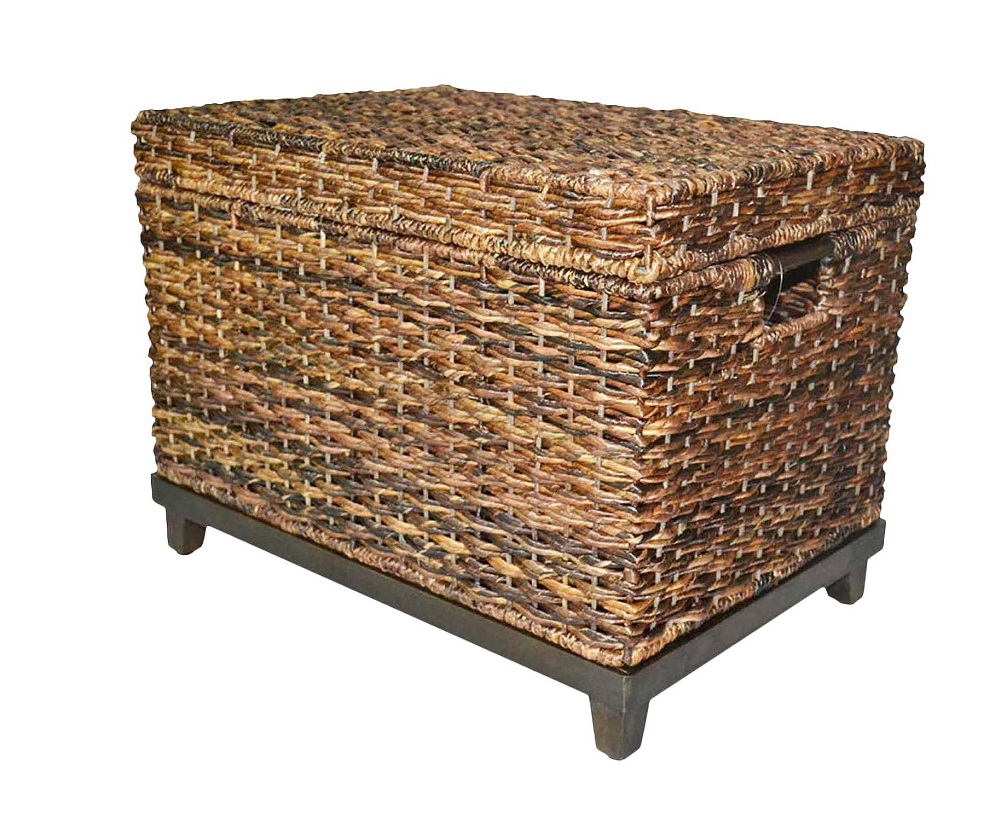 Threshold Wicker Large Storage Trunk, Dark Global Brown