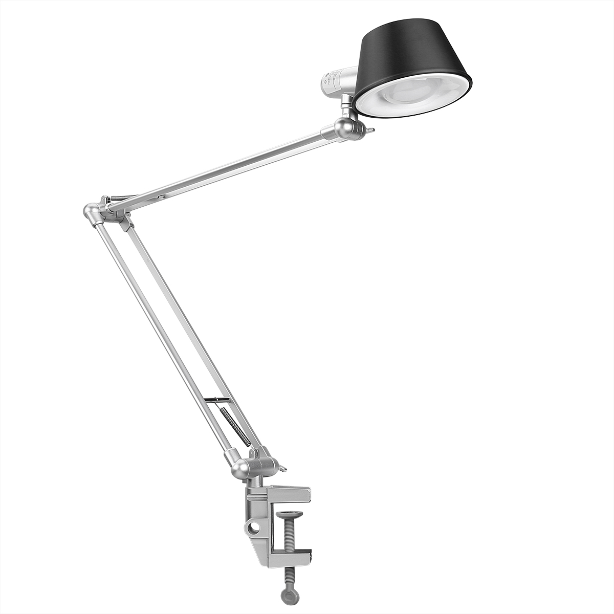 LE Swing Arm Dimmable LED Desk Lamp, Touch Control C Clamp Clamp Desk Light    Walmart.com