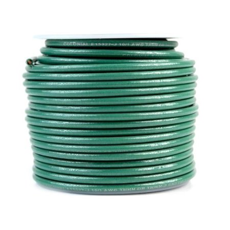 10 Gauge AWG 100 Feet Green Ground Solid Copper Wire UL Listed Cable