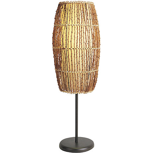 ORE International Rattan Table Lamp