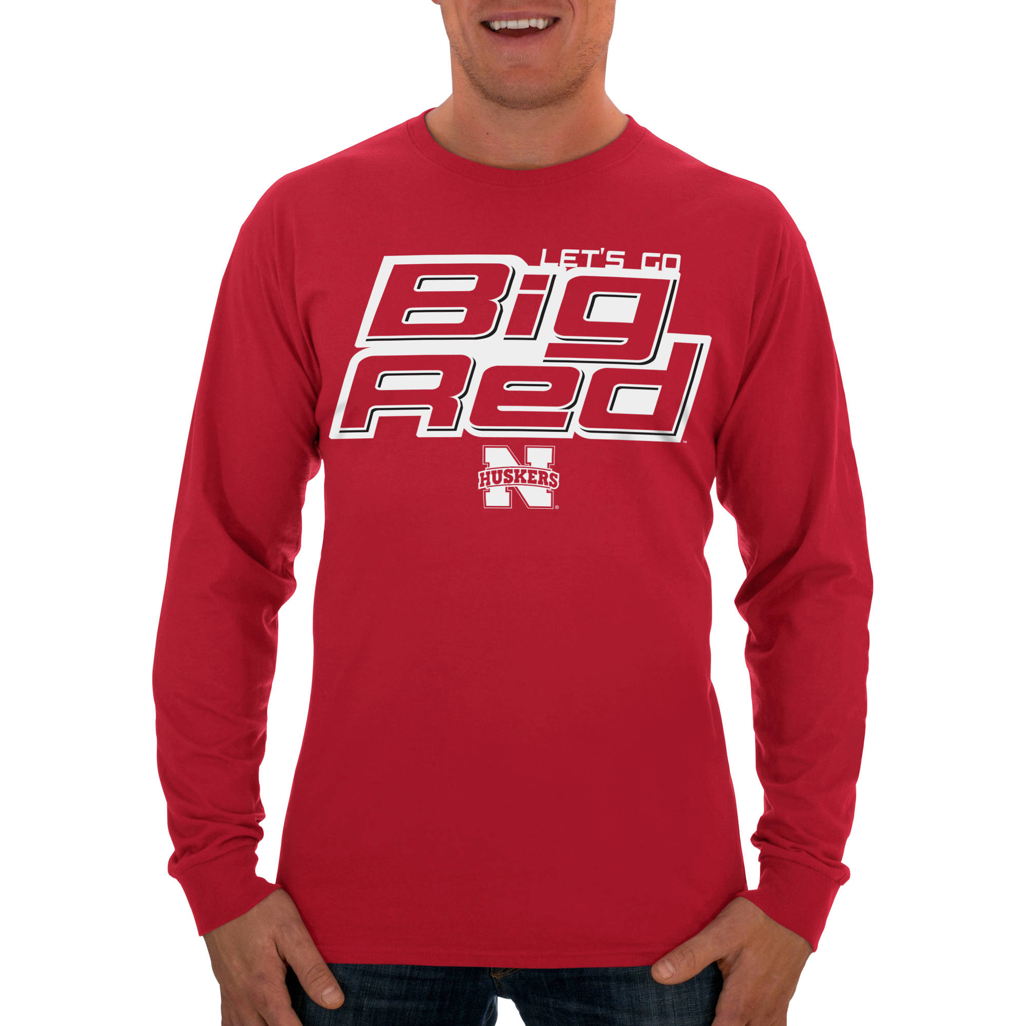 Russell NCAA Nebraska Cornhuskers Big Men's Long  T-Shirt