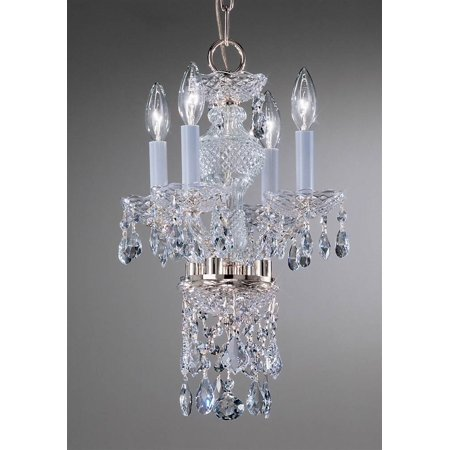 Monticello Mini-Chandelier Light in Chrome Finish (Swarovski Strass)