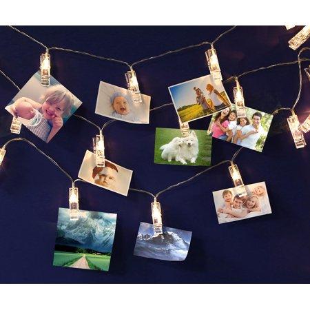 USB LED Photo Clip String Lights 10 LEDs Warm White As Decorative Lighting