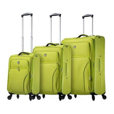 Mia Toro M1117 03Pc Apl Elio Softside Spinner Luggage  44  Set Of 3   Green