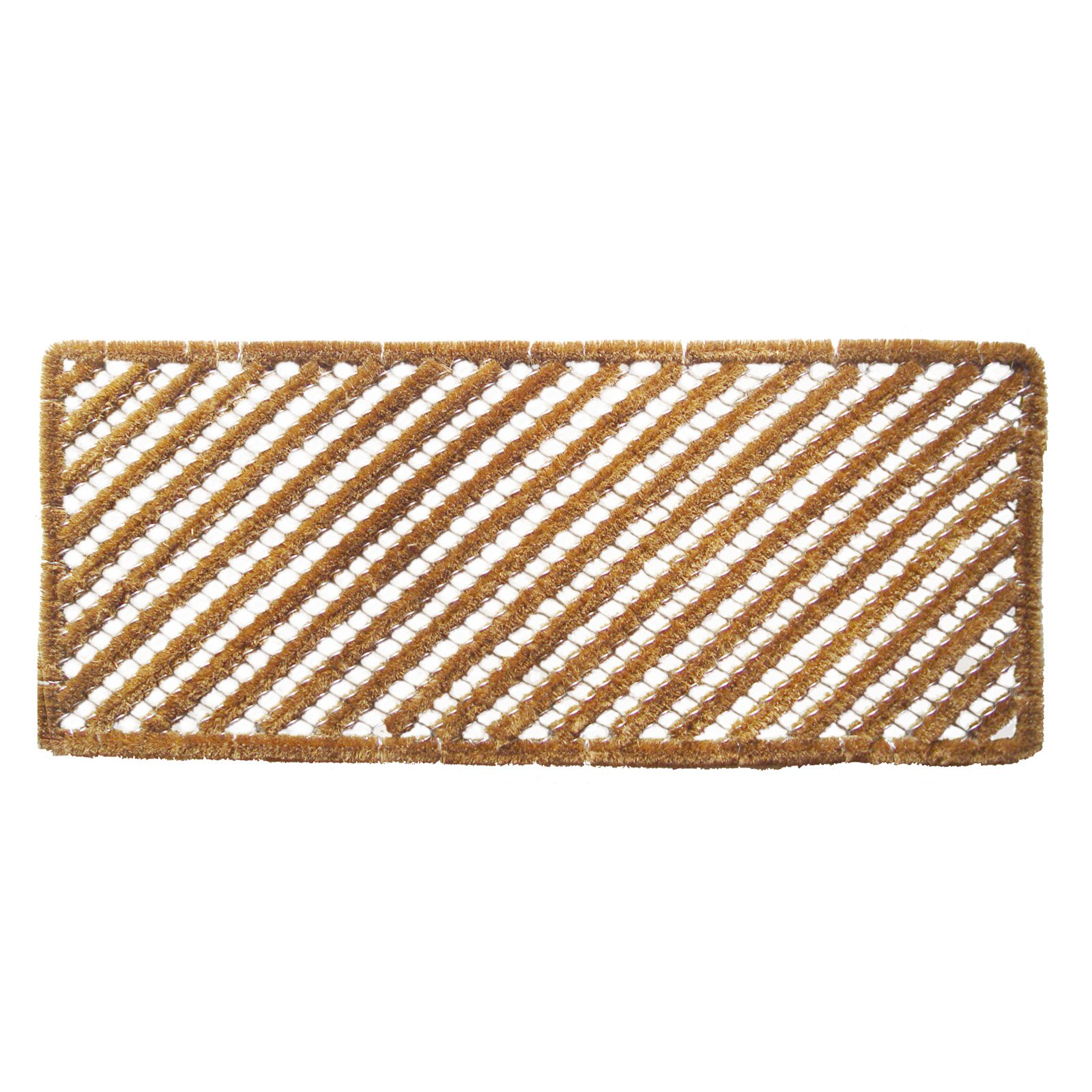 Entryways Rectangle Stripes Wire Brush Long Door Mat