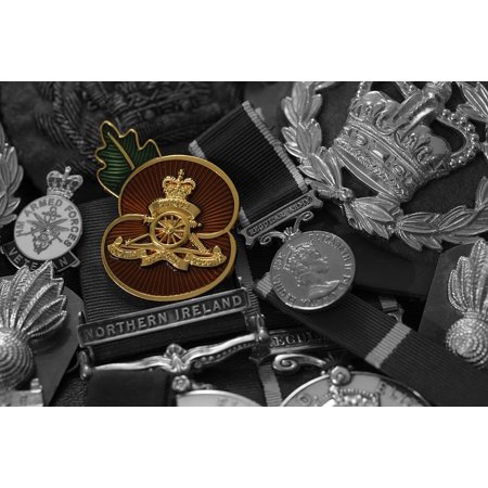 - LAMINATED POSTER Military Ribbon Honor War Medals Badge Army Poster Print 24 x 36
