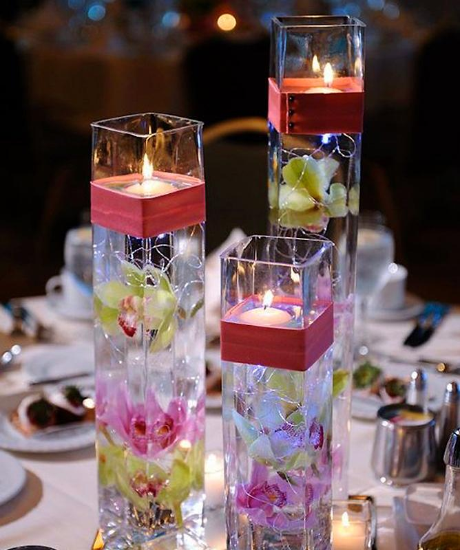 """Efavormart 16"""" Tall Square Glass Centerpiece Vase -1PC by"""