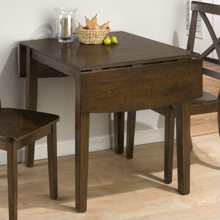 Jofran Double Drop Leaf Dining Table in Taylor Brown (Antique Cherry Drop Leaf Table For Sale)