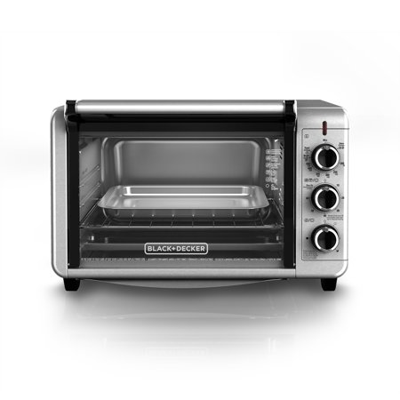 black decker 6 slice convection countertop toaster oven stainless steel to3210ssd. Black Bedroom Furniture Sets. Home Design Ideas