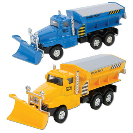 Die Cast Snow Plow Truck (Sold Individually - Colors (Best Skid Steer Snow Plow)