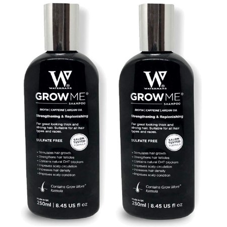 Waterman's Grow Me, Best Hair Growth Shampoo Sulfate Free, 8.45 Oz (Pack of