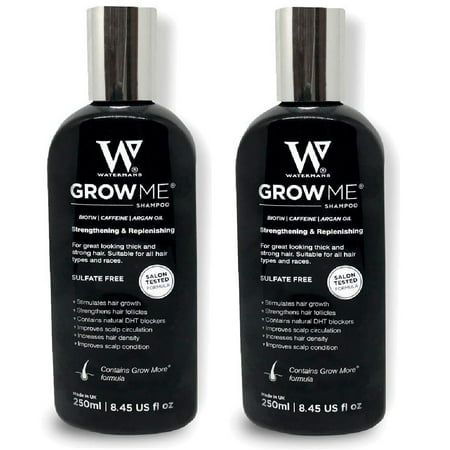 Waterman's Grow Me, Best Hair Growth Shampoo Sulfate Free, 8.45 Oz (Pack of 2) + Facial Hair Remover