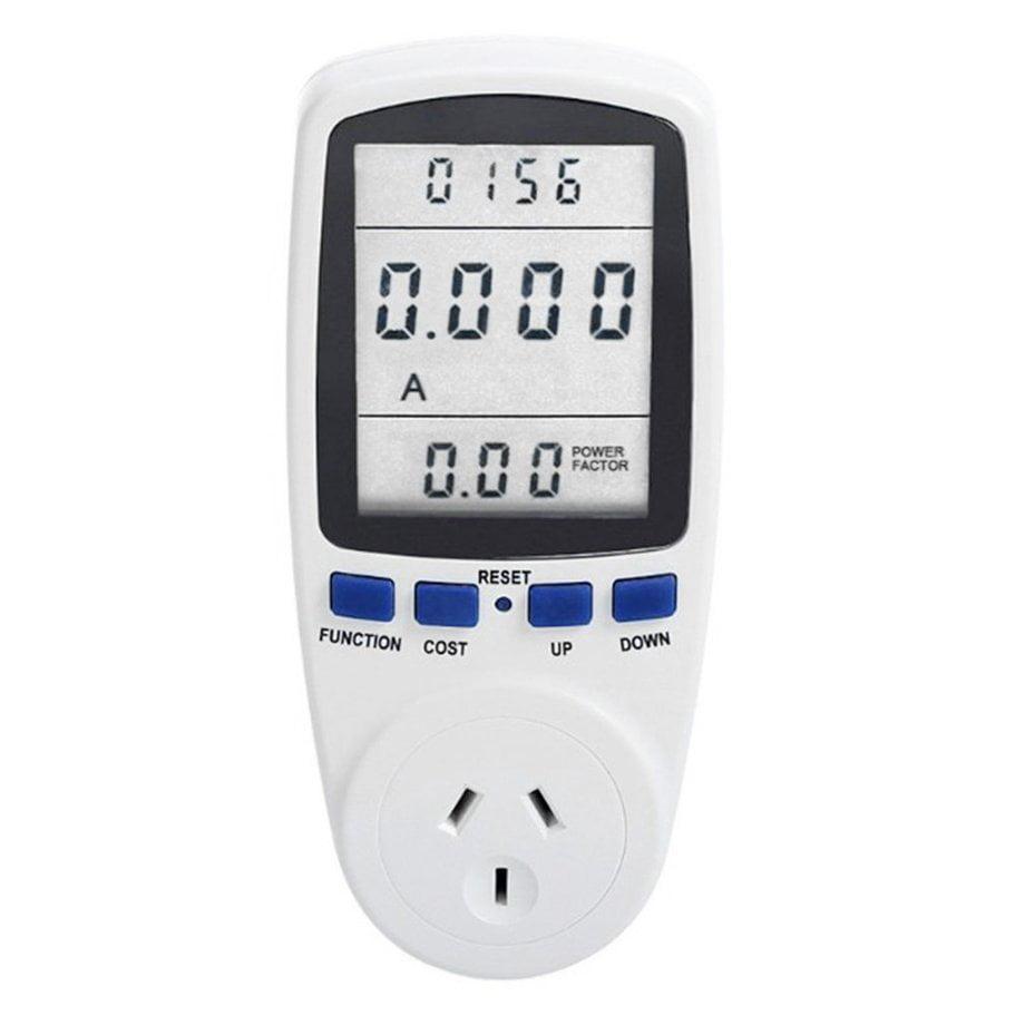Multifunctional LCD Display Digital Energy Saving Power Meter 240V 50HZ Watt Volt Amp Monitor Analyzer Measuring Socket
