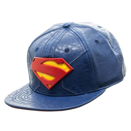 Bioworld Blue Licensed Superman PU Leather Snapback Hat - image 3 de 5