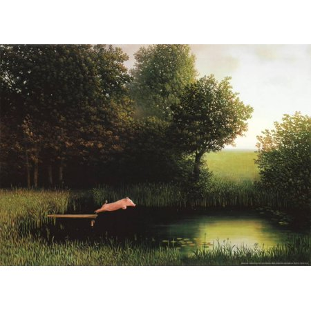 Kohler's Pig Art Print By Michael Sowa - 27.5x19.5 for $<!---->