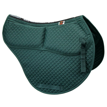 ECP Cotton Correction All Purpose Contoured Saddle Pad - Memory Foam Pockets All Purpose Pony Saddle Pad