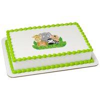 Jungle Animals Edible Cake Topper Image