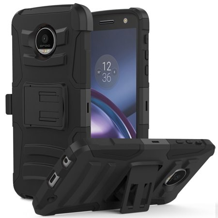 online store 2cd57 41000 [Motorola Moto Z Force] Holster Case, REDshield [Black] Supreme Protection  Hard Plastic on Silicone Skin Dual Layer Hybrid Case