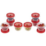 Rubbermaid TakeAlongs Twist & Seal Food Storage Containers, 1.2 Cup, 8 Count