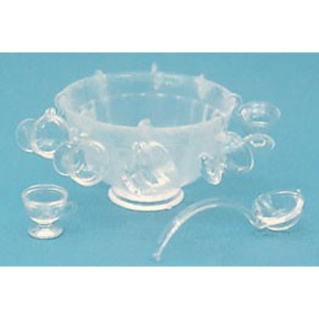Princess House Crystal Bowls (Dollhouse M-120C Punch Bowl Set Minikit, Color Crystal)