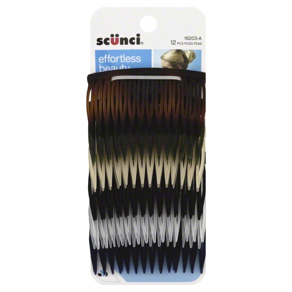 Scunci Hair Combs - 12 CT
