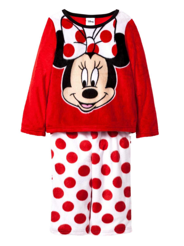 Disney Toddler Girls Minnie Mouse Red Dot Fleece Sleepwear Set Pajamas PJs