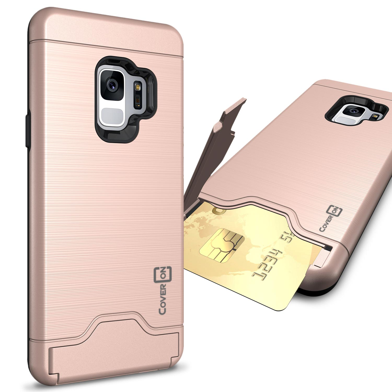 CoverON Samsung Galaxy S9 Case, Shadow Armor Series Hybrid Kickstand Phone Cover