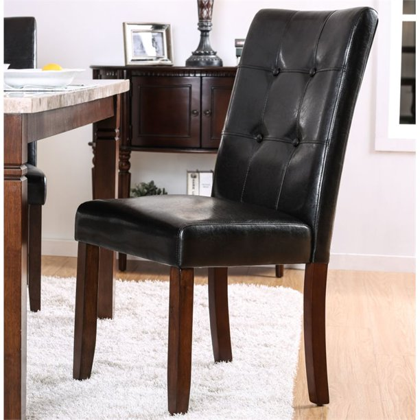 Furniture Of America Mullan Side Chair In Brown Cherry Set Of 2 Walmart Com Walmart Com