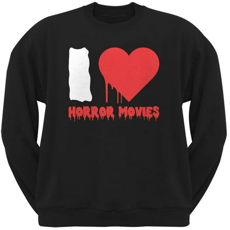 Halloween I Heart Horror Movies Black Adult Sweatshirt (Horror Movies Watch Halloween)