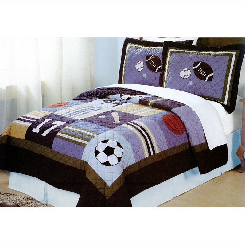 My World All Sports Bedding Quilt Set