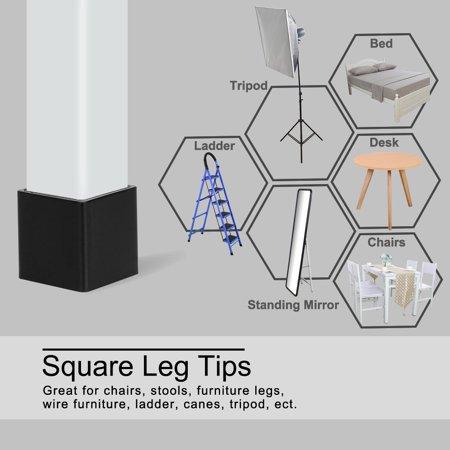 """Desk Chair Table Leg Caps End Tip Home Furniture Protector 30pcs 1""""x1"""" (25x25mm) - image 5 de 7"""