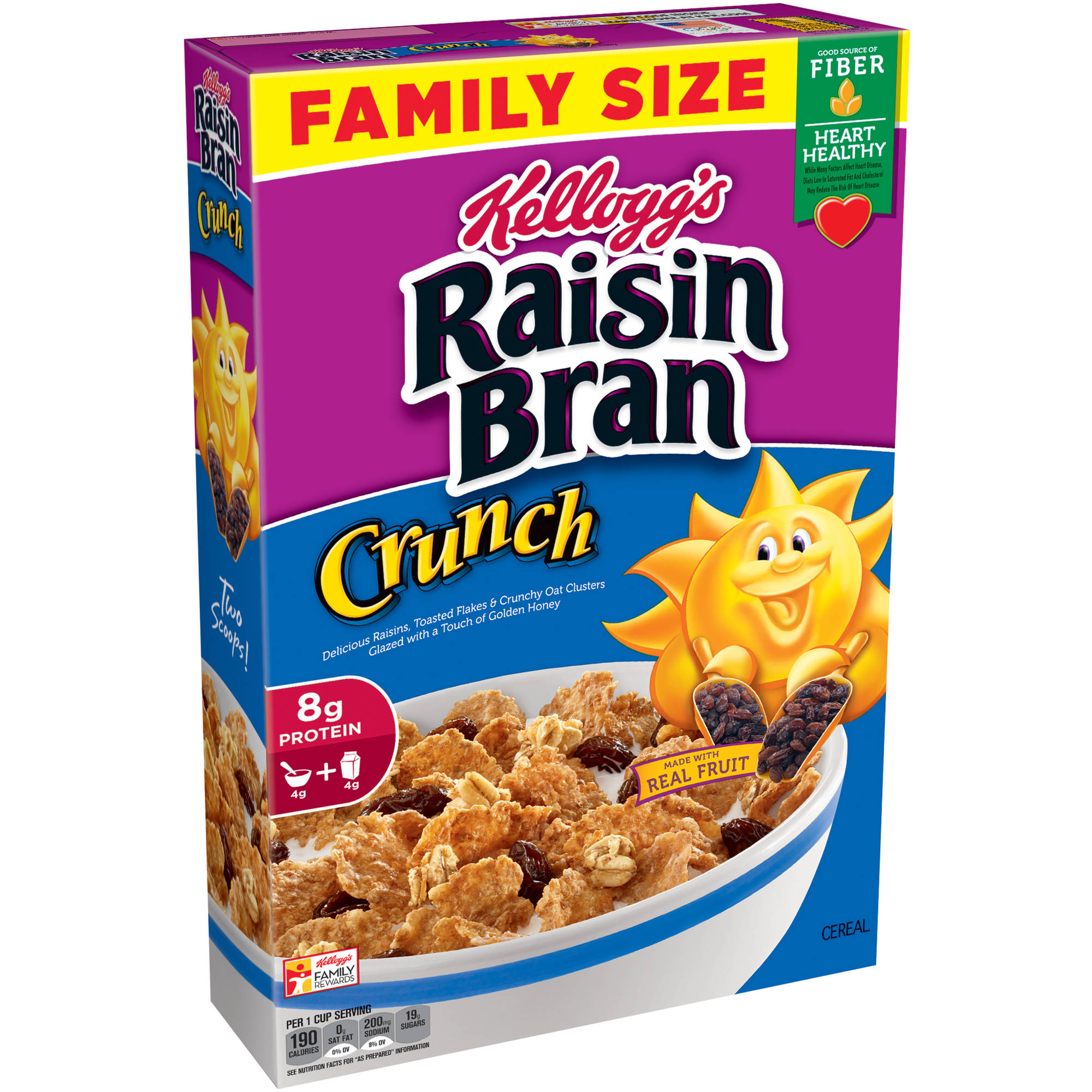 Kellogg's Raisin Bran Crunch Cereal, 24.8 Ounce Box