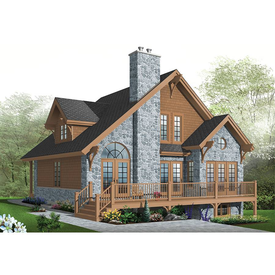 TheHouseDesigners-1142 Country House Plan with Basement Foundation (5 Printed Sets)