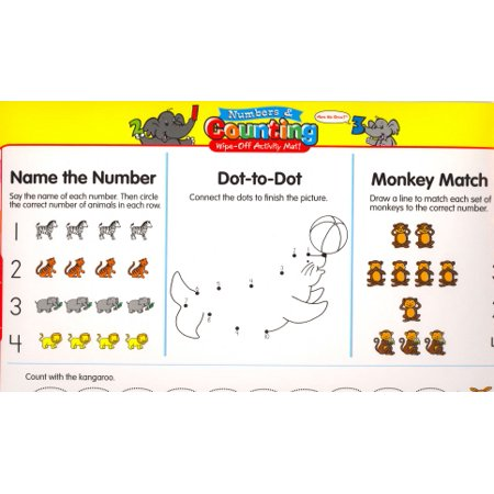 Numbers & Counting Wipe-Off Activity Mat! (Here We Grow! Preschool Series)