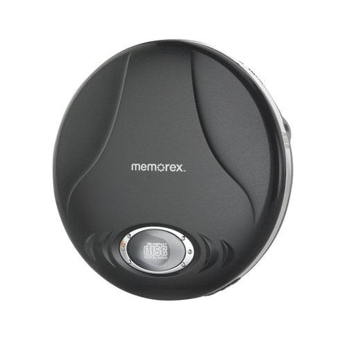 Memorex MD6451BLK Portable CD Player - 2 x AA Alkaline Batteries (Not Included) - Black