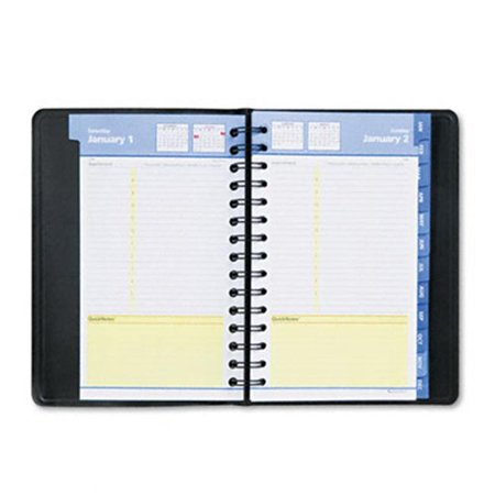 At-A-Glance 760405 QuickNotes Daily/Monthly Appointment Book  4-7/8 x 8  Black ()