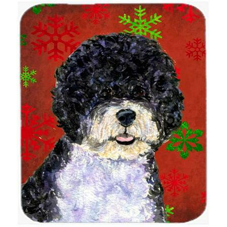 Portuguese Water Dog Snowflakes Christmas Mouse Pad, Hot Pad or Trivet - image 1 de 1